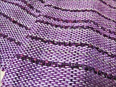 Dreams of Amethyst shawl, close up