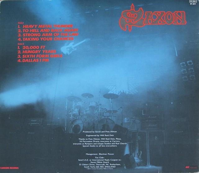 "SAXON STRONG ARM OF THE LAW NWOBHM 12"" CARRERE FRANCE GATEFOLD LP VINYL"
