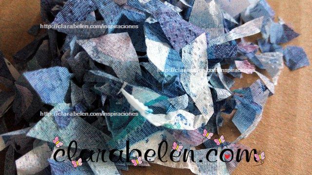 Cómo hacer confetti con los restos de recortes del decoupage