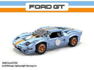Ford GT40 Gulf/Mirage Racer (1968)