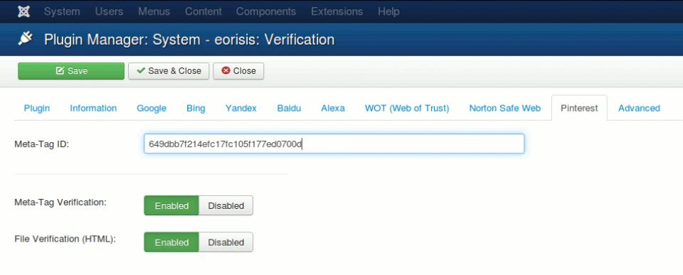 eorisis verification – verification of website in search engines