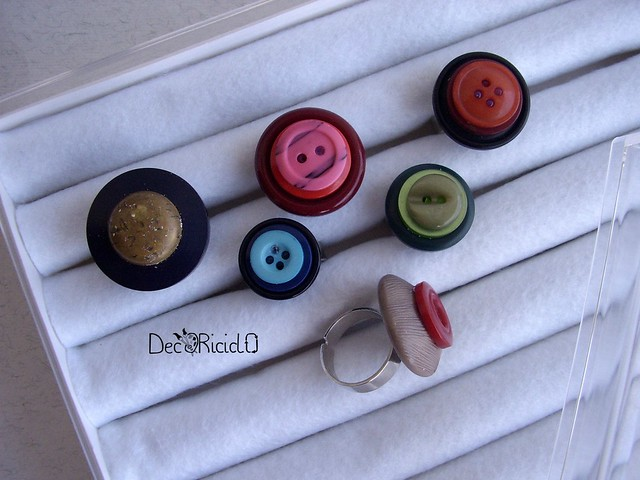 anelli bottoni + scatola espositore 5
