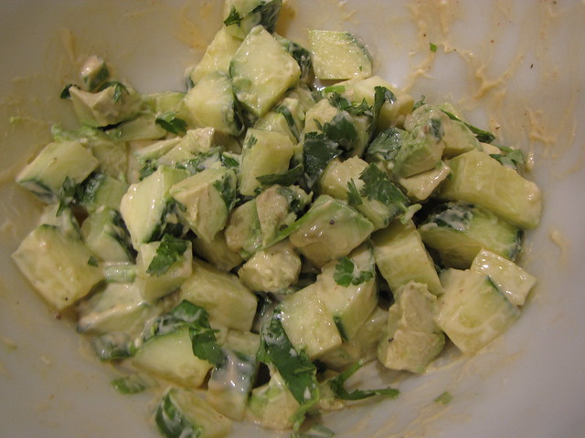 Cucumber & Avocado Salad