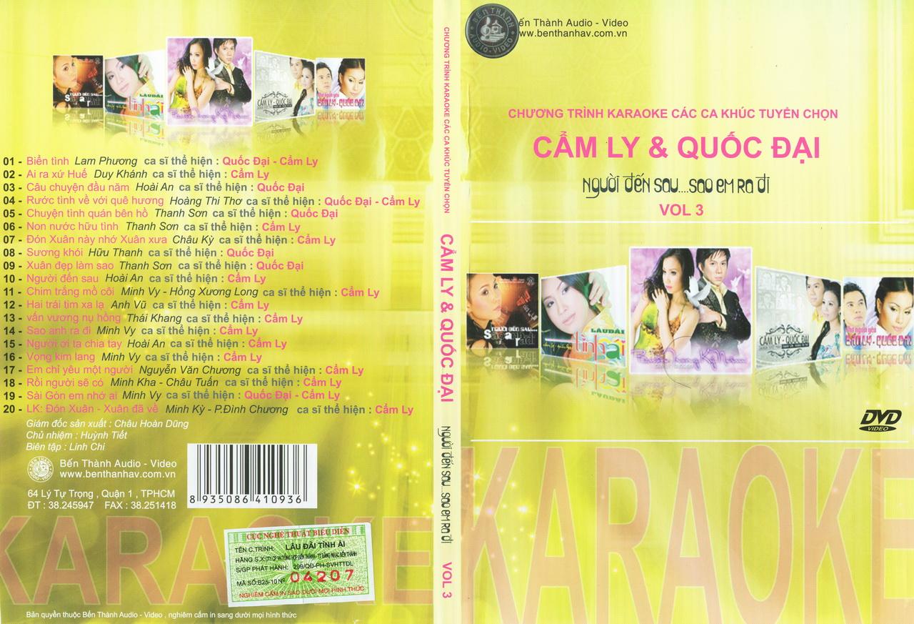 Bến Thành Video-Cẩm Ly & Quốc Đại Vol.3-Người Đến Sau...Sao Em Ra Đi [DVD5.ISO]