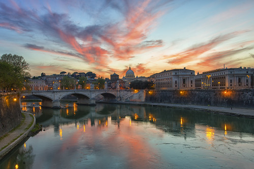 travel sunset vatican rome roma travels vivid traveling travelphotography pontesanangelo riversunset