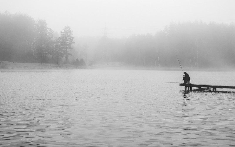 Fishing in the fog