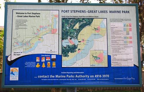 Port Stephens, Great Lakes Marine Park Interpretive Sign, Wombo St, North Pindimar near Tea Gardens 17.4.15