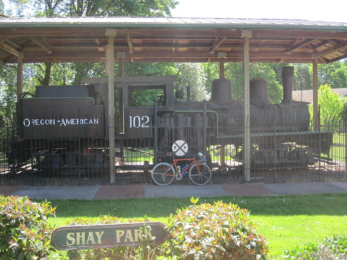 The kit bike and O-A #102 at Shay Park (better picture taken with an actual camera, not an iphone)