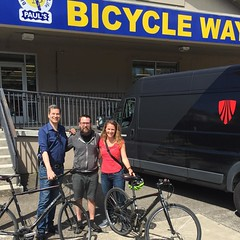 We had the pleasure of renting bikes to David Pogue (writer and host of Nova on PBS) and his wonderful wife Nicki, who ran the Eugene Marathon yesterday. With the power of bikes and science, everything is possible!