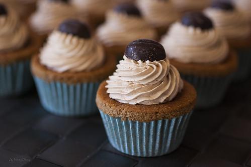Latte macchiato mini-cupcakes