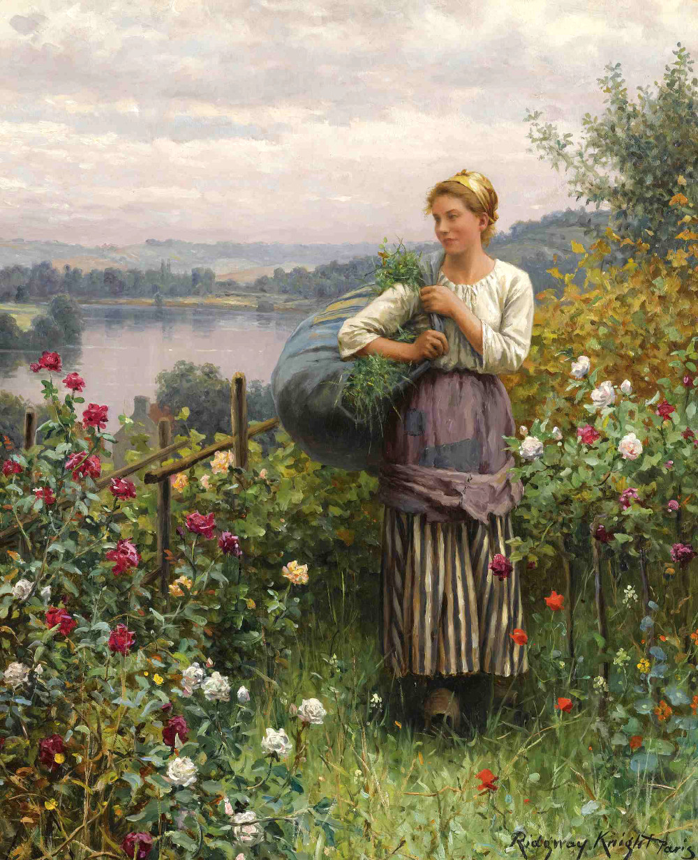 The Rose Garden by Daniel Ridgway Knight