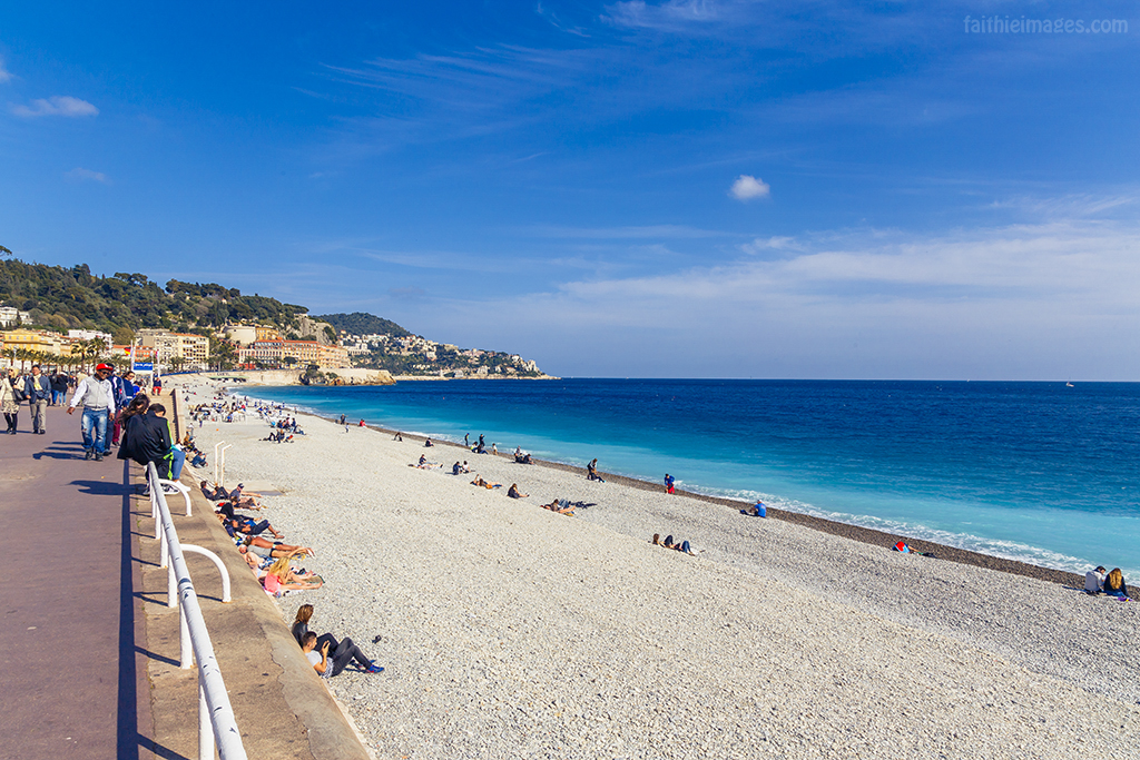 The Beach in Nice, Promenade des Anglais
