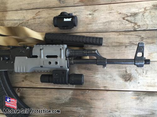 AK 47, UltiMax Rail, TRS-25