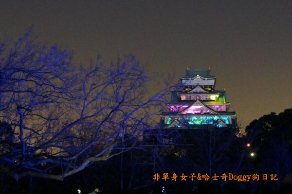 日本大阪城公園梅林城天守閣3D光之陣20