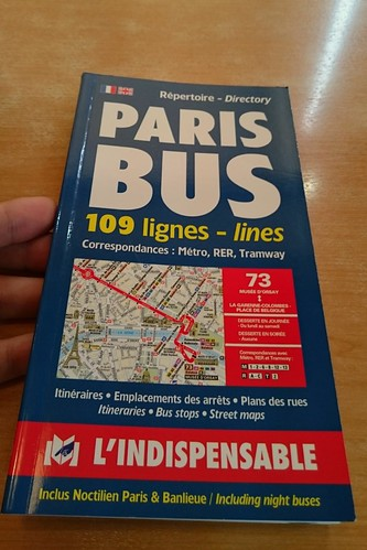 PARIS BUS 109 lignes  - lines