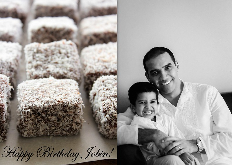 Jobin's Birthday Lamingtons