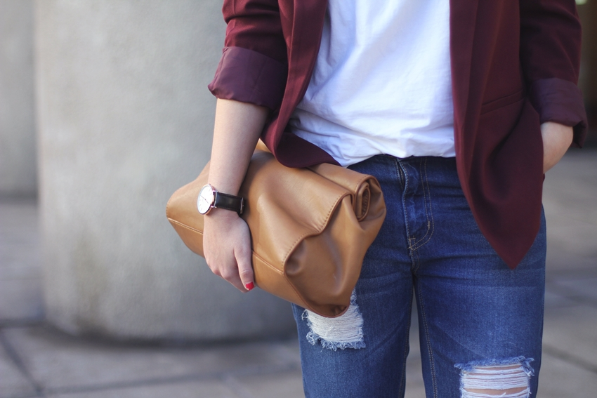 lunch-bag-marsala-blazer-boyfriend-jeans-forever21-streetstyle