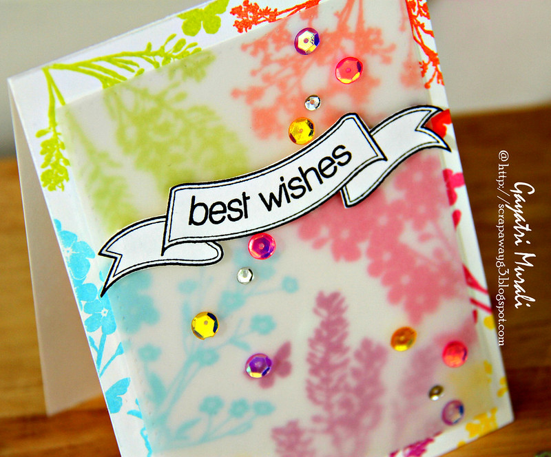 Best wishes closeup