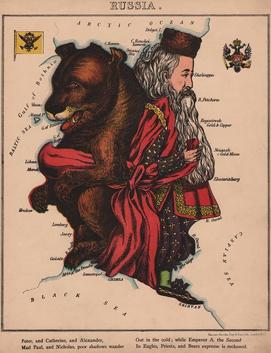 Caricature map of Russia by Aleph