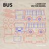 Bus vector model for lasercut