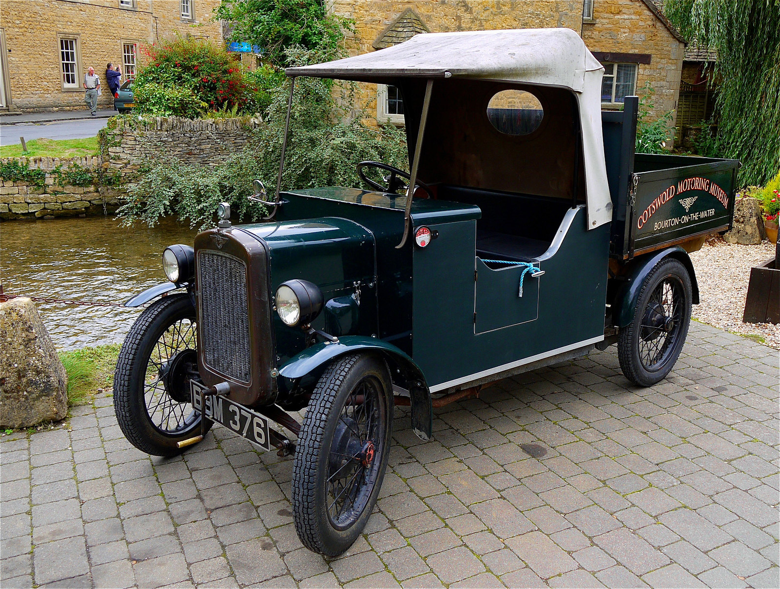 1937 Austin van at the Cotswolds Motor Museum in Bourton-on-the-water