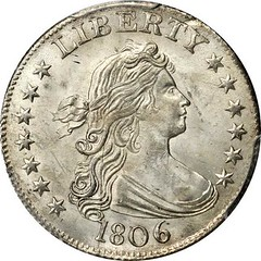 1806 Draped Bust Quarter obverse