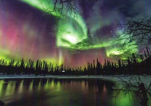 Northern lights, Äkäsmylly, Finland