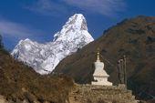 Nepal, Komfort-Trekking Everest-Gebiet. Ama Dablam, 6856 m. Foto: Archiv Härter.