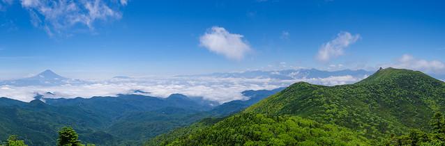 富士・南アルプス・金峰山@朝日岳