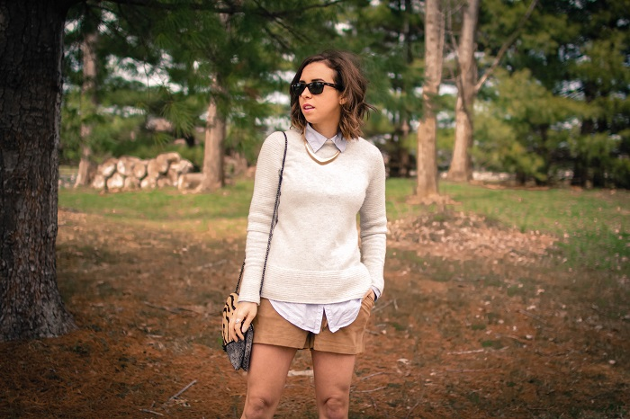 aviza style. a viza style. andrea viza. fashion blogger. dc blogger. spring style. spring trend. suede. spring layers. suede shorts. ootd. outfit. 5