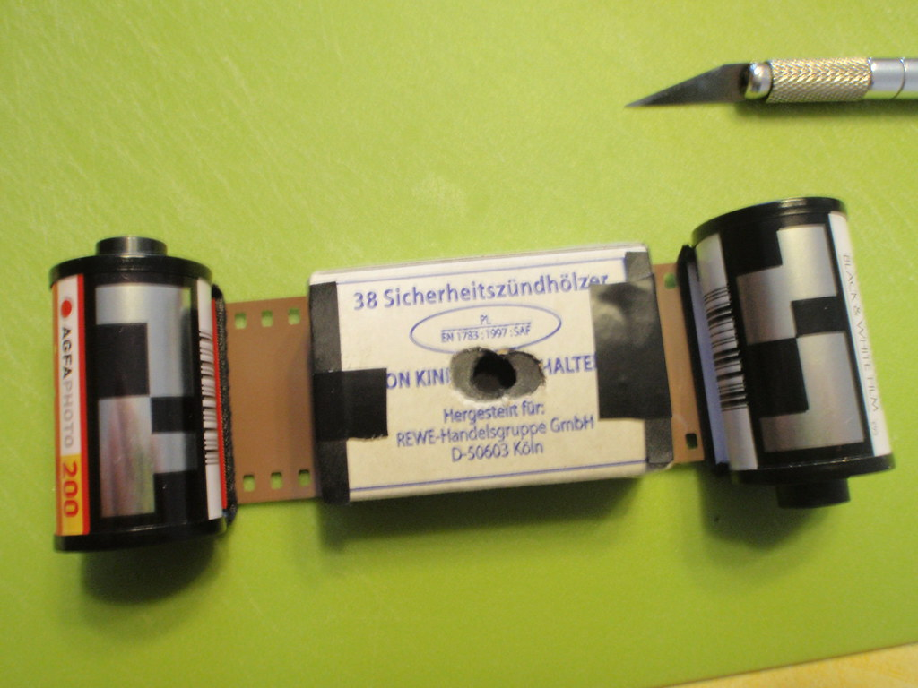 Streichholzschachtellochkamera - Aufbau