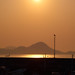 The egret,Gogoshima island and ship in the sunset of Takahamako Port,Ehime,Japan : 鷺と興居島と船、愛媛県高浜港の夕暮れ
