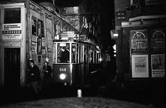Preserved vintage Amsterdam trams