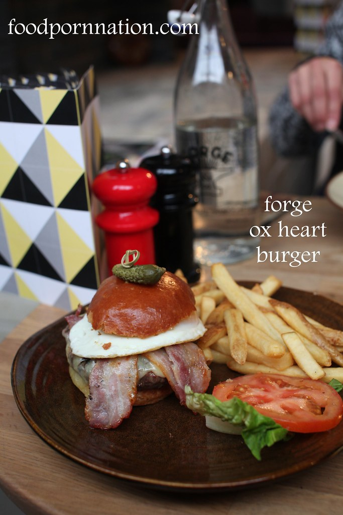 Forge ox heart burger - Forge & Co, Shoreditch -London Food Blog