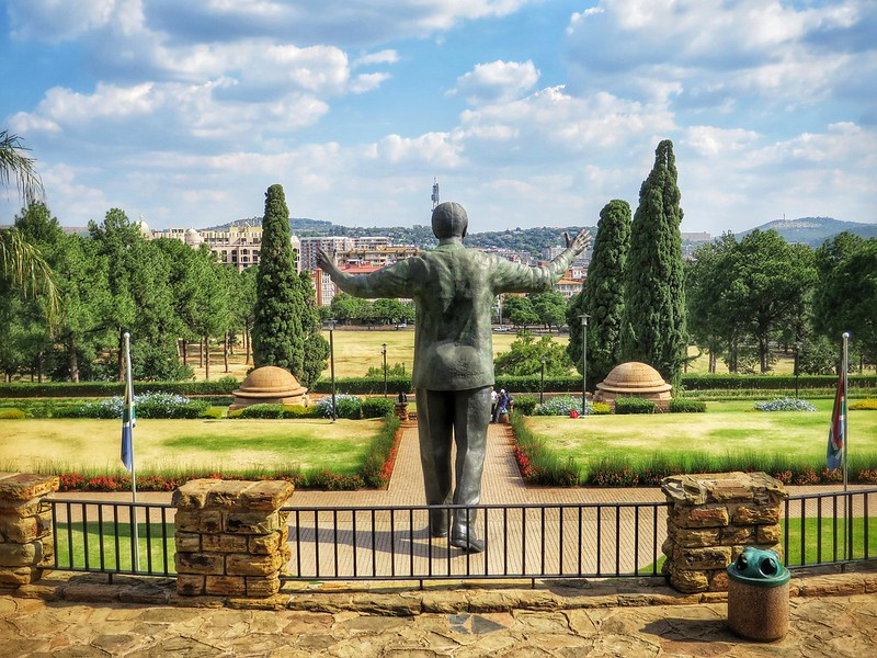 Nelson Mandela's statue above Pretoria