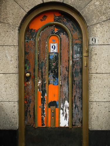 Bright Door in Delft, Holland