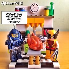 #LEGO_Galaxy_Patrol #LEGO #Wolverine #Carving #Turkey #CarveATurkey #XMen #Marvel #LEGOmarvel @lego_group @lego @Marvel @Disney @bricknetwork @brickcentral