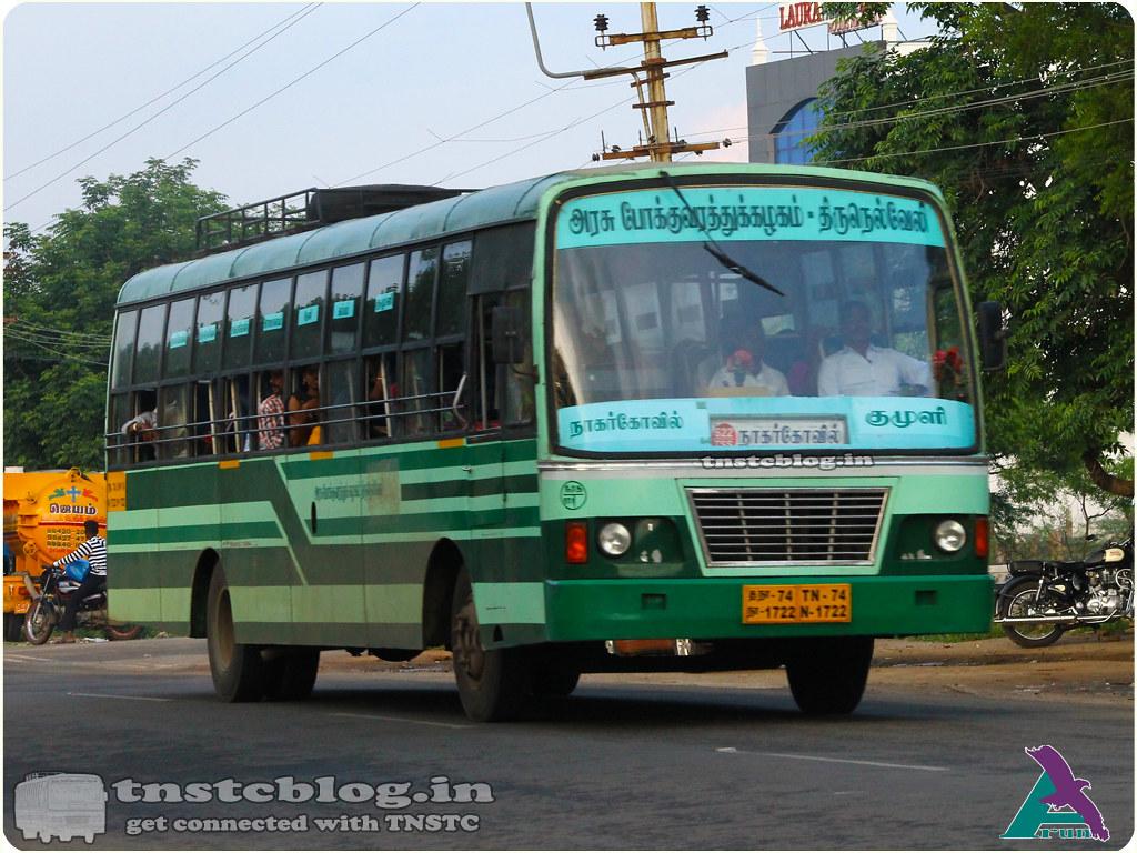 TN-74N-1722 Ranithootam 1 Depot Nagercoil - Kumuli via Tirunelveli, Sankarankovil, Rajapalayam, Srivilliputtur, Theni, Cumbum.