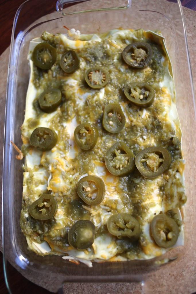 Salsa Verde Chicken Lasagna - Lovin' From the Oven
