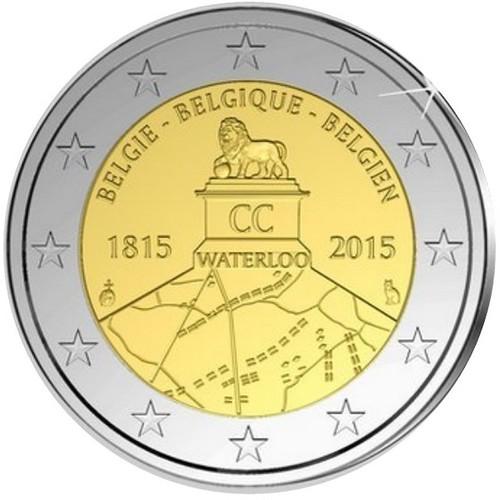 2 Euros Bélgica 2015 Waterloo