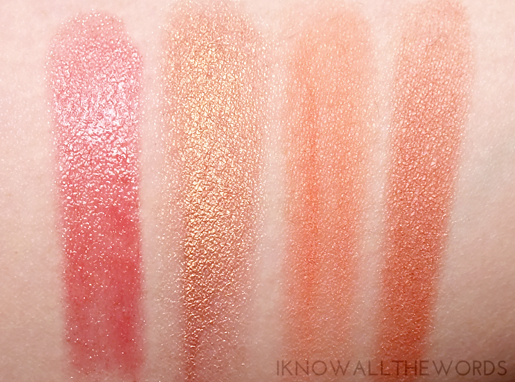 fast five peachy vibes swatches