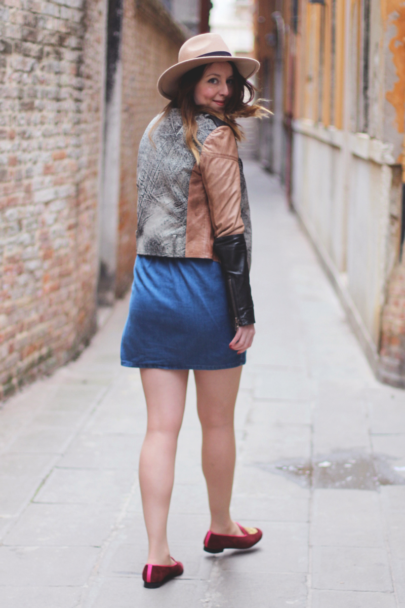 Gestuz Leather Jacket and Asos Dress, Bumpkin Betty