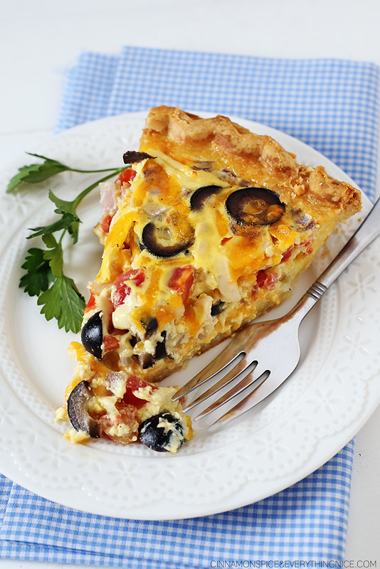Tex-Mex Chicken Quiche