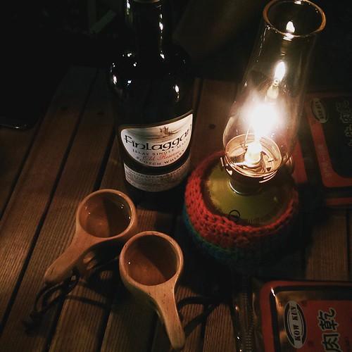 20150501 本來要睡了 捨不得雨停後的涼爽空氣 來一下深夜成人時段 威士忌與雪茄  #歐北露