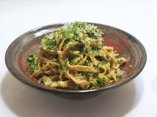 roasted red pepper pasta carbonara experiment
