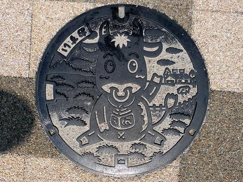 Matsusaka Mie, manhole cover 2 (三重県松阪市のマンホール2)