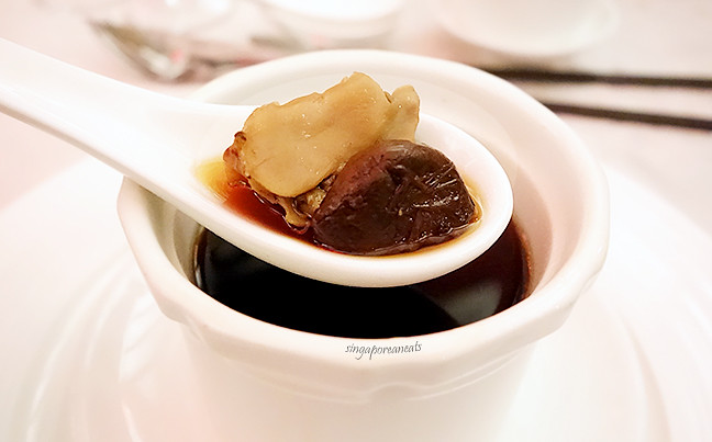 03 Double Boiled Conch Consomme with Black Garlic