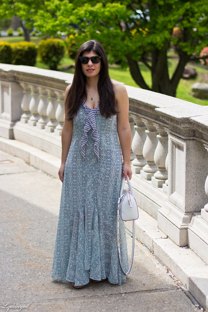 garden party maxi dress, white handbag.jpg