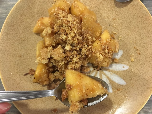 La Coutinelle gluten-free apple crisp dessert Montpellier France