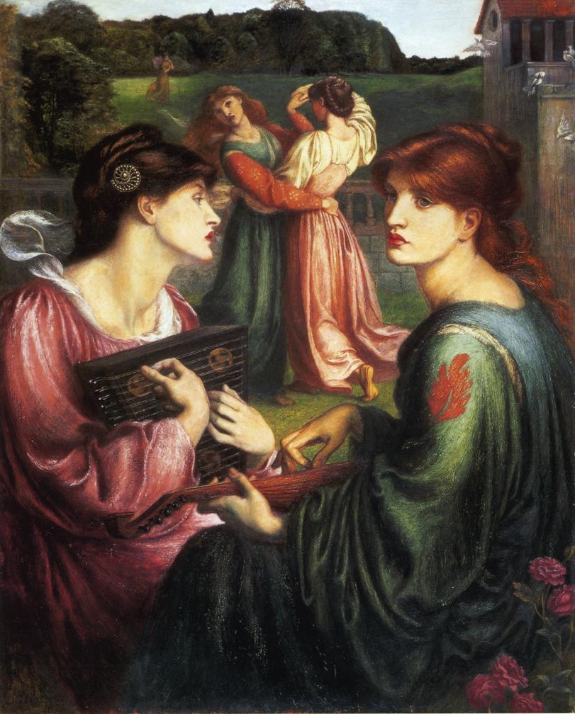 The Bower Meadow by Dante Gabriel Rossetti - 1872